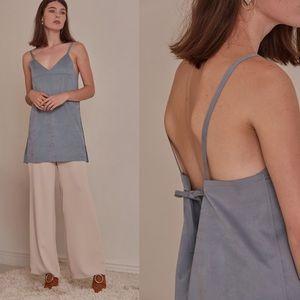 LOÉIL Cecilia dress-Airy Blue/Light Grey $102
